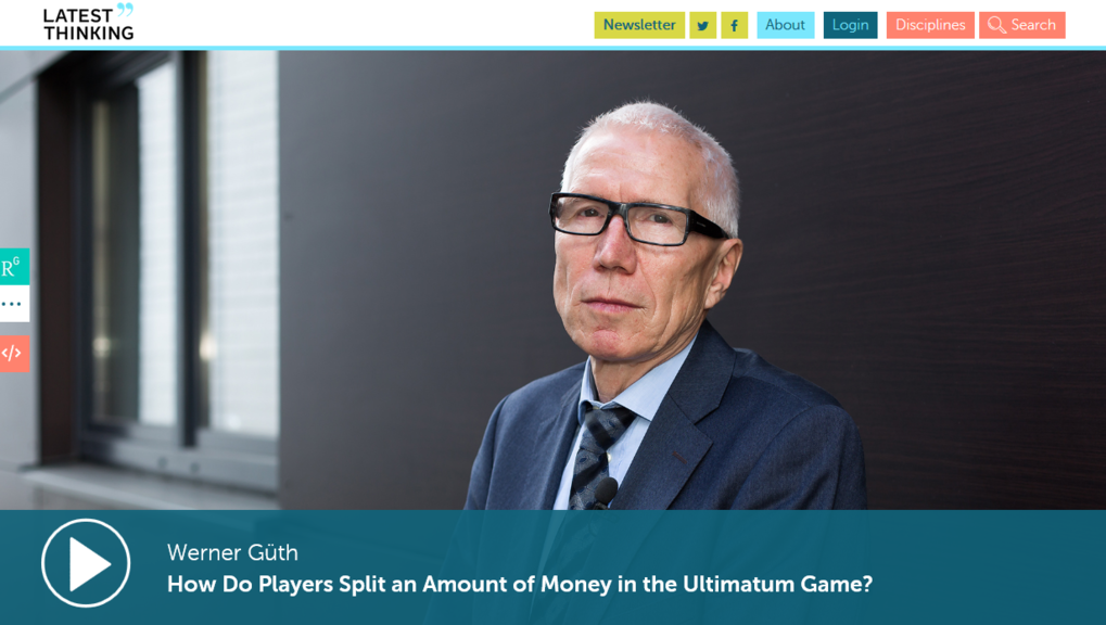 How Do Players Split an Amount of Money in the Ultimatum Game